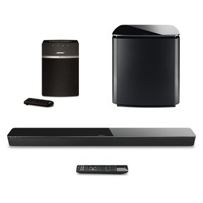 SoundTouch 300 Soundbar, Acoustimass 300 Wireless Bass Module Subwoofer and SoundTouch 10 Wireless Music System (Black)