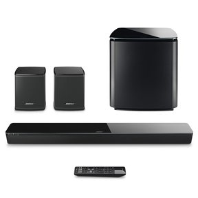 SoundTouch 300 Soundbar with Bose Acoustimass 300 Wireless Bass Module Subwoofer and Bose Virtually Invisible 300 Wireless Surround Speaker - Pair (Black)