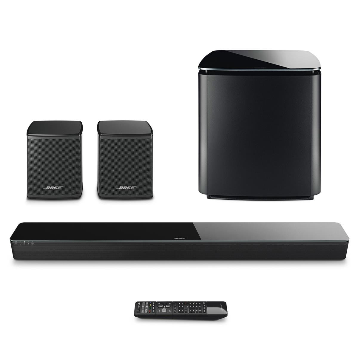 bose soundtouch 300 soundbar with bose acoustimass 300 wireless bass module subwoofer and bose. Black Bedroom Furniture Sets. Home Design Ideas
