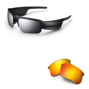 Tempo Sports Bluetooth Audio Sunglass Frames with Replacement Lenses (Road Orange)