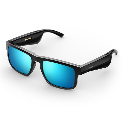 View Larger Image of Tenor Rectangular Bluetooth Audio Sunglass Frames with Two Replacement Lenses (Mirrored Blue and Mirrored Silver)