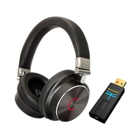 NC Hybrid Quality Noise-Canceling Over-Ear Headphones (Black) with Audioquest DragonFly Black USB DAC