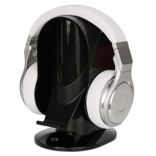 View Larger Image of NC Hybrid Quality Noise-Canceling Over-Ear Headphones with Heads Up Base Stand (Black)