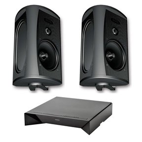 AW 5500 All Weather Speakers with W Adapt Wireless Streaming Adapter (Black)