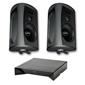 AW 6500 All Weather Speaker With Bracket Package with W Adapt Wireless Streaming Adapter