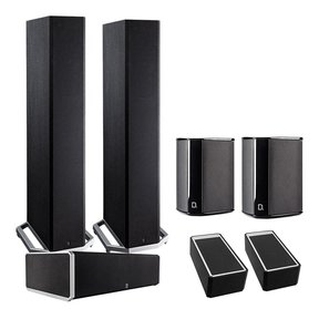 BP9020 5.0 High Power Bipolar Tower Speaker Package with Integrated Subwoofers and Dolby Atmos Modules (Black)