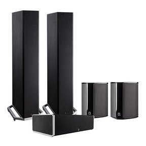BP9020 5.0 High Power Bipolar Tower Speaker Package with Integrated Subwoofers (Black)