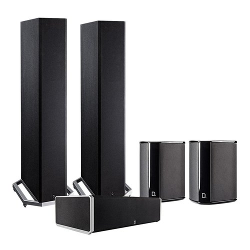 View Larger Image of BP9020 5.0 High Power Bipolar Tower Speaker Package with Integrated Subwoofers (Black)