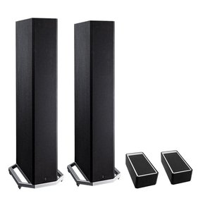 "BP9020 High Power Bipolar Tower Speakers with Integrated 8"" Subwoofer and Dolby Atmos Module - Pair (Black)"