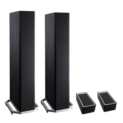 """View Larger Image of BP9020 High Power Bipolar Tower Speakers with Integrated 8"""" Subwoofer and Dolby Atmos Module - Pair (Black)"""