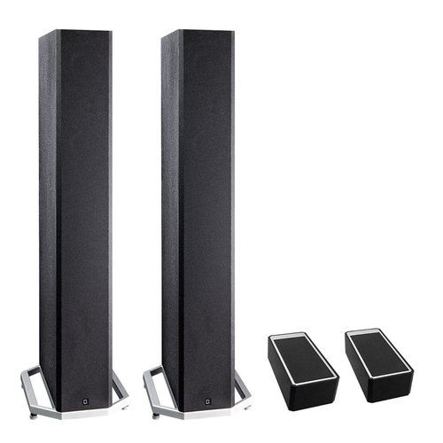 "View Larger Image of BP9040 High Power Bipolar Tower Speakers with Integrated 8"" Subwoofer and Dolby Atmos Module - Pair (Black)"