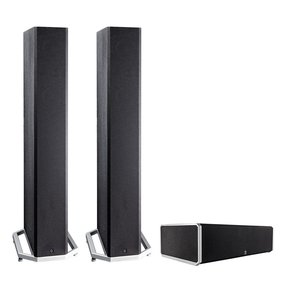 """BP9040 High Power Bipolar Tower Speakers with Integrated 8"""" Subwoofer (Pair) with CS9040 High-Performance Center Channel Speaker (Black)"""