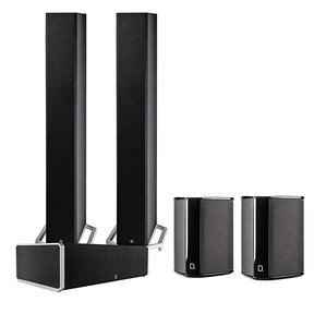 BP9060 5.0 High Power Bipolar Tower Speaker Package with Integrated Subwoofers (Black)