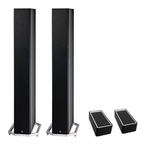 "BP9060 High Power Bipolar Tower Speakers with Integrated 10"" Subwoofer and Dolby Atmos Module - Pair (Black)"