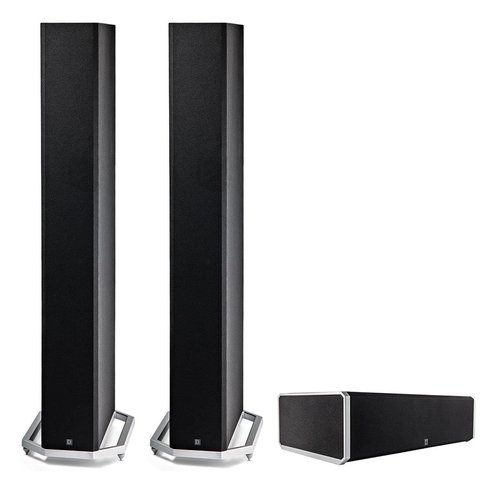 "View Larger Image of BP9060 High Power Bipolar Tower Speakers with Integrated 10"" Subwoofer (Pair) with CS9060 High-Performance Center Channel Speaker (Black)"