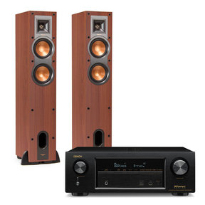 AVR-X1300W 7.2 Channel 4K UHD Network A/V Receiver with Klipsch R-24F Reference Floorstanding Speakers (Cherry)