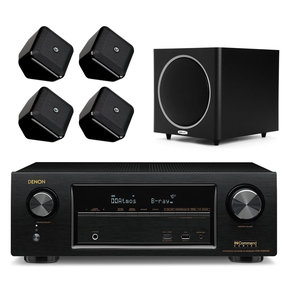 "AVR-X1300W 7.2 Channel Full 4K Ultra HD Network A/V Receiver with Boston Acoustic Satellite Speakers and Polk PSW110 10"" Freestanding Subwoofer (Black)"