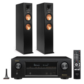 AVR-X1300W 7.2 Channel Full 4K Ultra HD Network A/V Receiver with Klipsch RP-250F Reference Premiere Floorstanding Speakers (Ebony)
