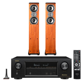 AVR-X1300W 7.2 Channel Full 4K Ultra HD Network A/V Receiver with Polk TSi300 Tower Speakers - Pair