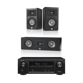 AVR-X1400H 7.2 Channel AV Receiver with HEOS and JBL Studio Series 3.0 Channel Speaker System