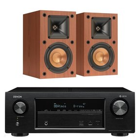 AVR-X1400H 7.2 Channel Full 4K Ultra HD Network A/V Receiver with Klipsch R-14M Reference Monitor Speakers (Cherry)