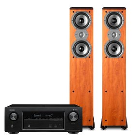 AVR-X1400H 7.2 Channel Full 4K Ultra HD Network A/V Receiver with Polk TSi300 Tower Speakers - Pair (Cherry)