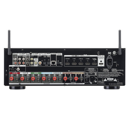 View Larger Image of AVR-X1400H 7.2 Channel Full 4K Ultra HD Network AV Receiver with HEOS