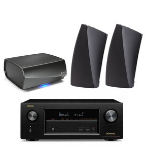 AVR-X2300W 7.2 Channel Full 4K Ultra HD A/V Receiver with HEOS Link Wireless Pre-Amplifier and HEOS 3 Wireless Speaker Pair - Series 2 (Black)