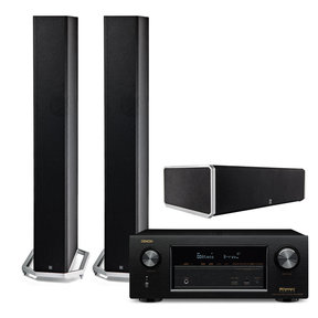 AVR-X2300W 7.2 Channel Full 4K Ultra HD Bluetooth A/V Receiver with Definitive Technology BP9060 3.0 High Power Tower Speaker Package