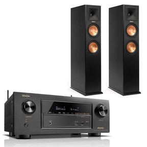 AVR-X2300W 7.2 Channel Full 4K Ultra HD Bluetooth A/V Receiver with Klipsch RP-260 Floorstanding Speakers - Pair (Black)