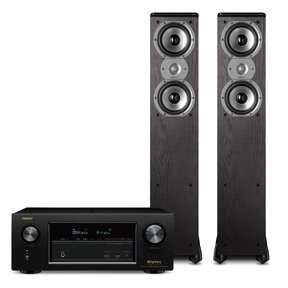 AVR-X2300W 7.2 Channel Full 4K Ultra HD Bluetooth A/V Receiver with Polk TSi300 3-Way Floorstanding Speakers - Pair (Black)