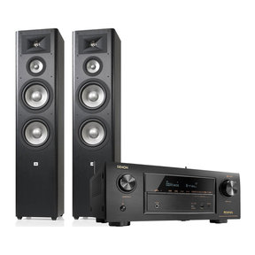 AVR-X3400H Ultra HD Network AV Receiver with JBL Studio 290 3-Way Floorstanding Speakers - Pair (Black)