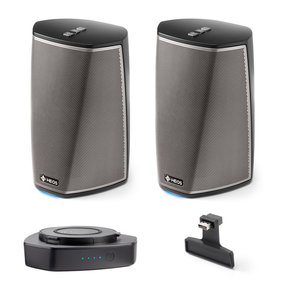 HEOS 1 Wireless Multi-Room Speaker Pair Series 2 with HEOS 1 Go Wireless Accessory Pack