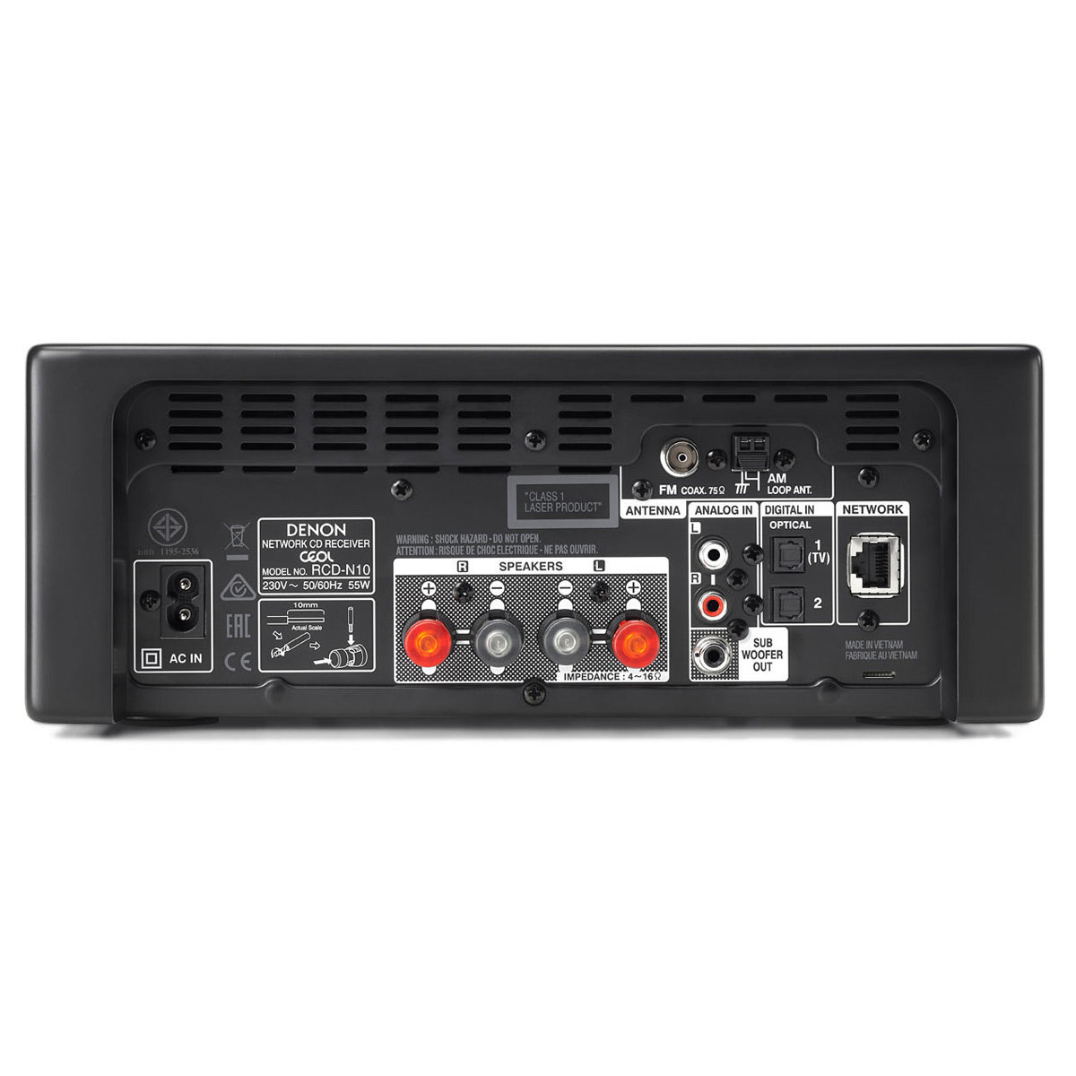 Denon RCD-N10 Network CD Receiver with HEOS (Black)   World