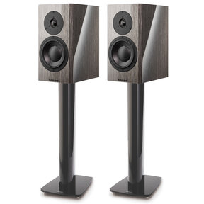 Special 40 Bookshelf Speakers - Pair (Grey Birch High Gloss) with Stand 6 Speaker Stands