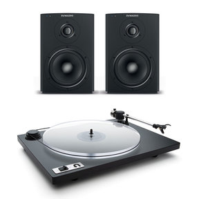 Xeo 2 Wireless Bookshelf Speakers and U-Turn Orbit Plus Turntable with Built-In Preamplifier