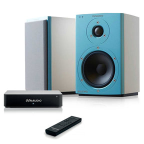 Xeo 2 Wireless Bookshelf Speakers (Blue/White) with Xeo Wireless Digital Hub and Master Remote