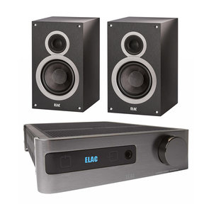 "B6 6.5"" Debut Series Bookshelf Speakers with EA101EQ-G Element Series Integrated Amplifier"