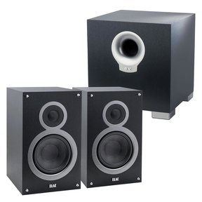 Debut B5 Bookshelf Speakers with S10 200W Powered Subwoofer (Black)