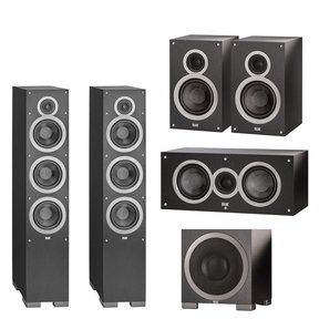 Debut Series 5.1 Channel Speaker Package with S10 200W Powered Subwoofer