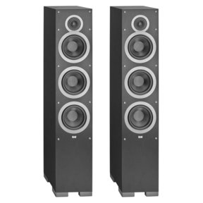 "F6 6.5"" Debut Series Floorstanding Speakers - Pair (Black Brushed Vinyl)"