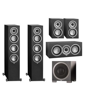 """Uni-Fi Series 5.1 Channel Speaker Package with S12Q 12"""" Debut Series 1000W Powered Subwoofer"""