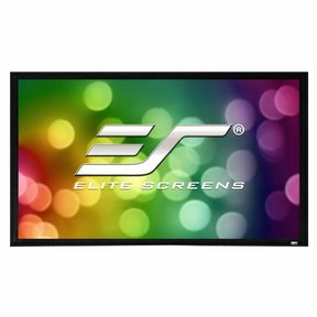 "ER92WH2 Sable Fixed Frame 2 Series 92"" Projector Screen with CineWhite Material (Black)"