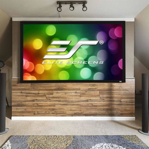 "View Larger Image of ER92WH2 Sable Fixed Frame 2 Series 92"" Projector Screen with CineWhite Material (Black)"