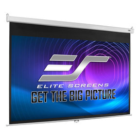 """M100HSR-PRO 120"""" Manual Pull Down Projection Screen with Slow Retraction"""