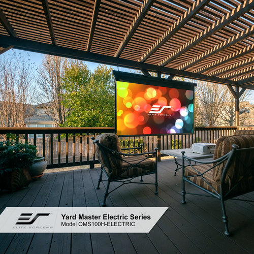 "View Larger Image of OMS120H Yard Master Electric 120"" MaxWhite Outdoor Projector Screen"