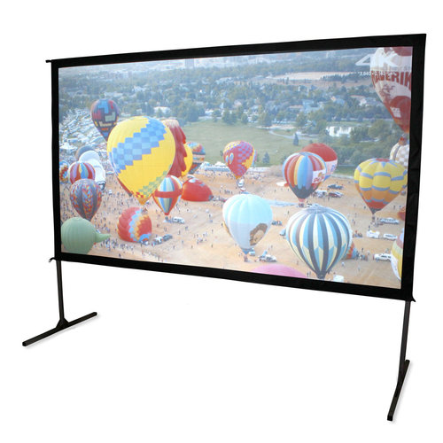 """View Larger Image of OMS150H2-DUAL Yard Master 2 Dual Series WraithVeil 150"""" Outdoor Projector Screen"""