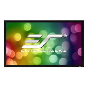 "ER110WH2 Sable Fixed Frame 2 Series 110"" Projector Screen with CineWhite Material (Black)"