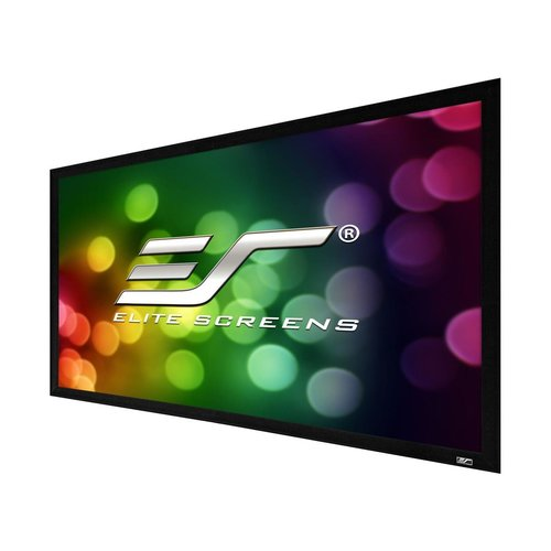 """View Larger Image of ER110WH2 Sable Fixed Frame 2 Series 110"""" Projector Screen with CineWhite Material (Black)"""