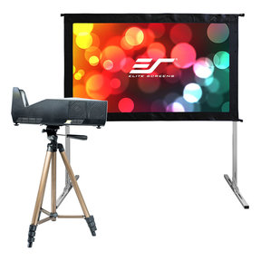 "Yard Master 2 58"" Outdoor Projector Screen with MosicGO Ultra Short Throw Projector"